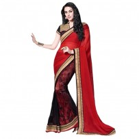 Red And Black Stunning Mudra Designer Saree WF301