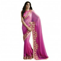 Nirvana Exclusive Pink Stylish Designer Saree NV003