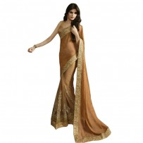Nirvana Exclusive Goldenrod Stylish Designer Saree NV004