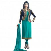 Exclusive Eid Special Prachi Desai Jacket Suit Turquoise WF029