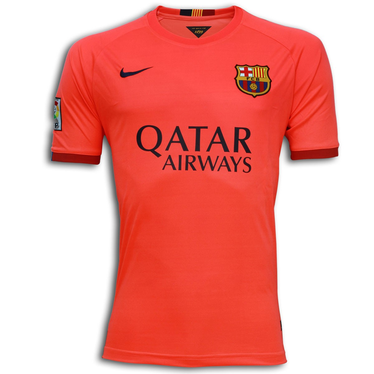 Fc Barcelona Half Sleeve Away Shirt 2014 15