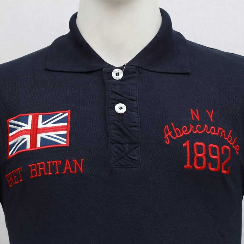f190b8d2 ... Abercrombie & Fitch Polo Shirt SB15P Navy Blue lightbox moreview