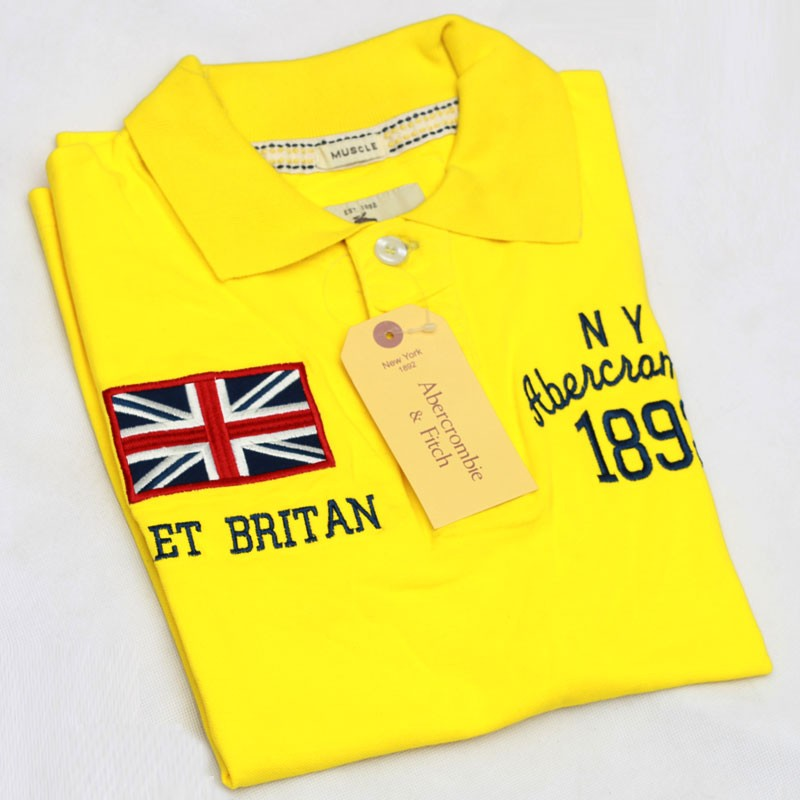 10054570 Abercrombie & Fitch Polo Shirt SB04P Yellow lightbox moreview ...