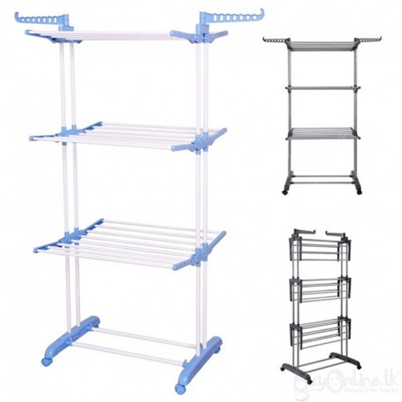 Image result for 3-layer-cloth-rack shoppersbd