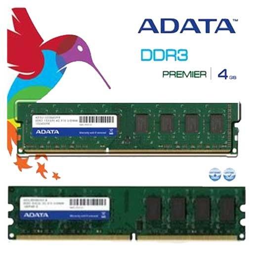 adata 1600 bus 4gb ddr3 ram  for desktop
