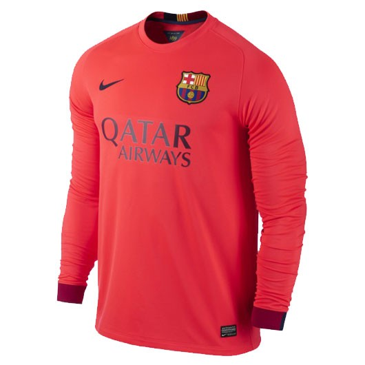 the latest e20bf be147 FC Barcelona Full Sleeve Away Jersey 2014-15