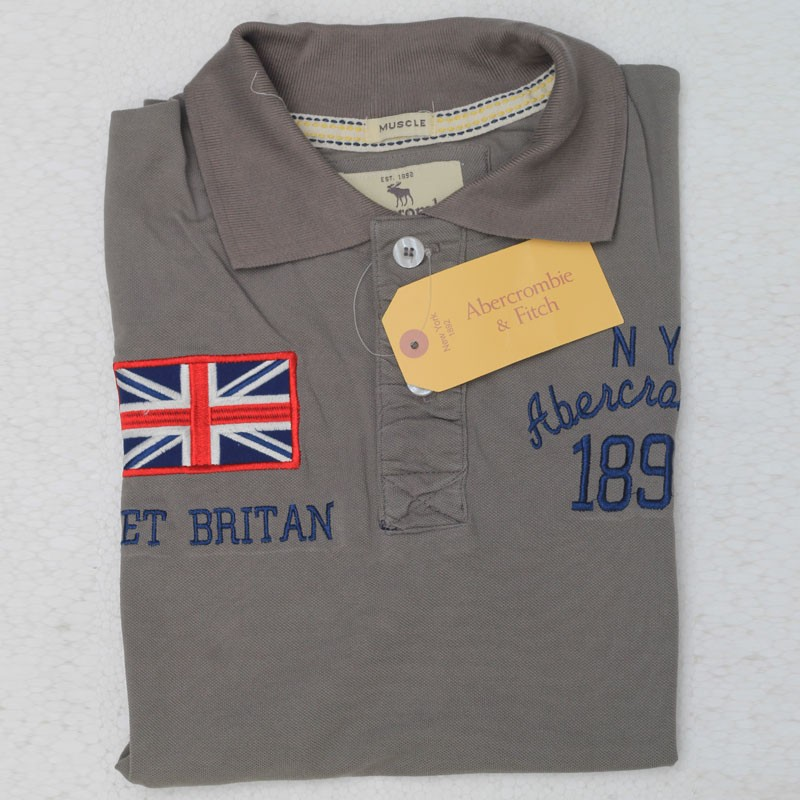 61af0d61 ... Abercrombie & Fitch Polo Shirt SB07P Dust lightbox moreview
