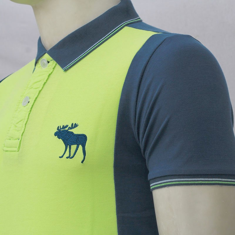 Abercrombie fitch polo shirt mh24p lime green black for Mens lime green polo shirt