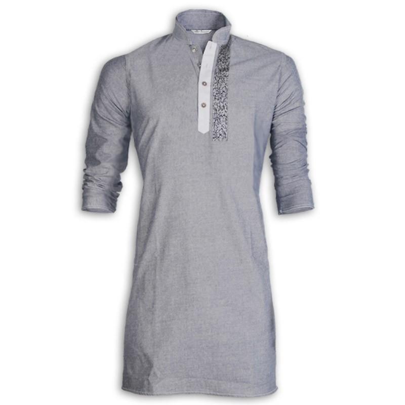 Exclusive Ash Shemray Cotton Eid Panjabi With Cotton Print
