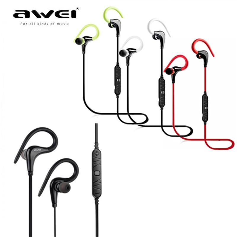 awei a890bl wireless sports stereo earphone  white