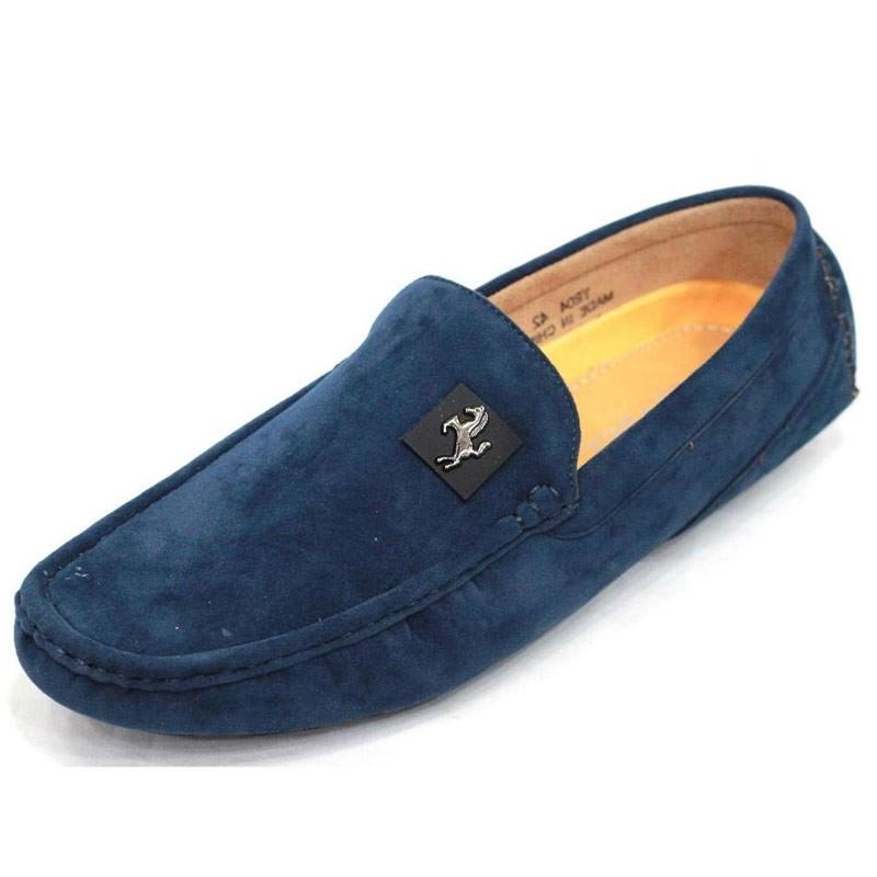 Men S Velvet Casual Loafer Ffs230 Blue Loafers