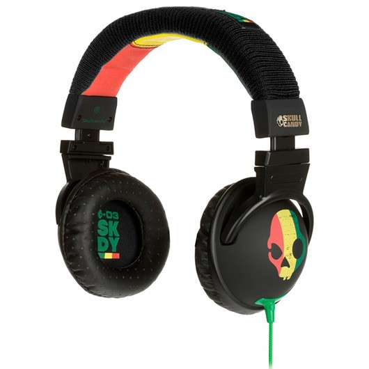 Skull Candy Hash Raste Replica Headphones Green