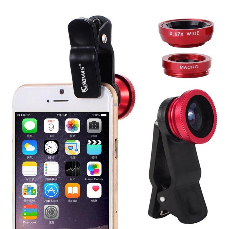 Universal 3 In 1 Clip Lens Camera For Smart Phone Mobile
